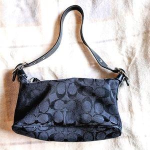 Authentic Vintage Coach Monogram Black Handbag